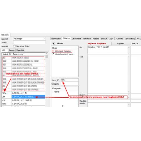 Inlinevarianten für Prestashop und OXID