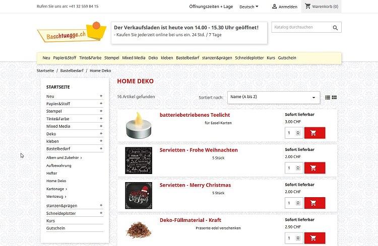 Baschtuegge - Scrapbooking Shop